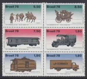 Brazil 1582-7 Mail Transportation mnh
