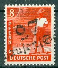 Germany - Russian Zone - Provisional Issue - Michel 168 MH