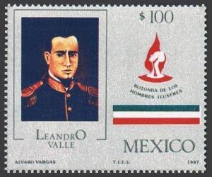 Mexico 1487 block/4,MNH.Michel 2026. Leonardo Valle,1833-1861,jurist,1986.