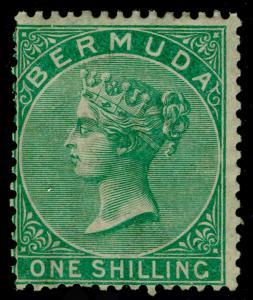 BERMUDA SG8, 1s green WMK CC, M MINT. Cat £350.
