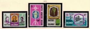 British Solomon Islands Stamps Scott #218-21, Mint Lightly Hinged - Free U.S....