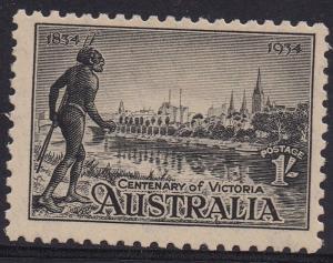 AUSTRALIA 1934 VICTORIA CENTENARY 1/- PERF 10.5