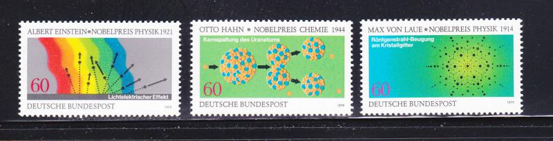 Germany 1299-1301 Set MNH Nobel Prize Winners