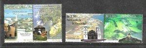 #1735 PANAMA 2001 UPAEP AMERICA ARCHITECTURE CHURCHES YV 1216-7AE594-5 MNH