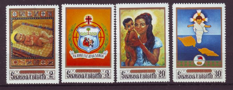 J19630 Jlstamps 1970 samoa set mnh #333-6 christmas