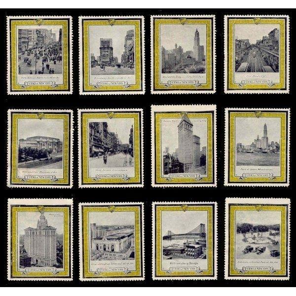 US - VIEWS OF NEW YORK Postaco Poster Stamps