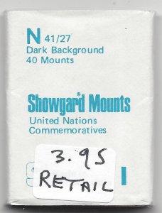 SHOWGARD MOUNT N,  41 MM X 27 MM,  RETAIL $3.95