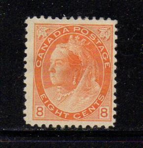 Canada Sc 82 1898 8c orange Victoria numeral stamp mint