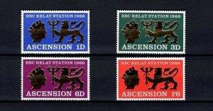 ASCENSION - 1967 - BBC - RELAY STATION - SOUTH ATLANTIC - GOLD - MINT - MNH SET!