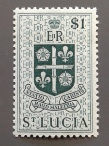 St. Lucia 168 F-VF MLH. Scott $ 5.25