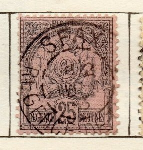 Tunis 1888 Early Issue Fine Used 25c. NW-114583