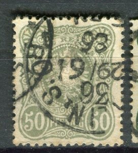 GERMANY; 1880 early 'Pfennig' 50pf. issue used Shade + fair Postmark