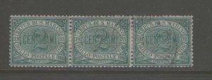 San Marino 1894 Sc 2 Strip 3 FU
