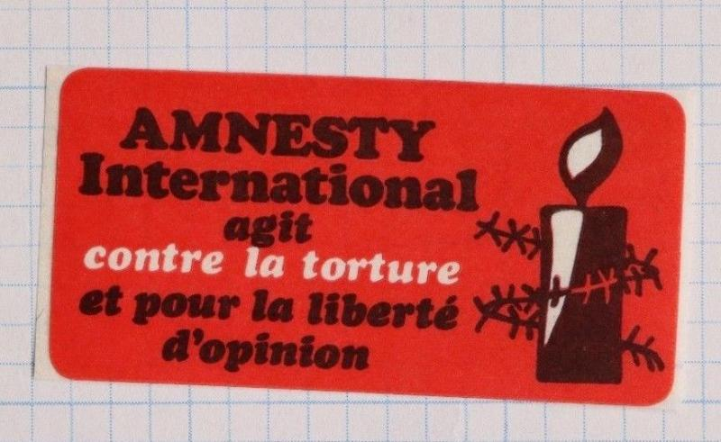 Amnesty Intl against-stop torture freedom of opinion POW press war charity DL
