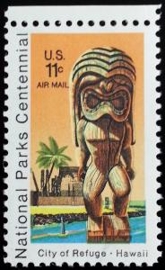 1972 11c City of Refuge National Park, Hawaii Scott C84 Mint F/VF NH