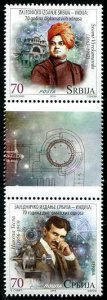 HERRICKSTAMP NEW ISSUES SERBIA Sc.# 830 Dipl. Relations w/ India Joint Issue