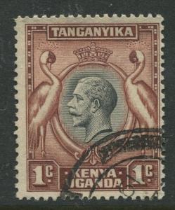 Kenya & Uganda - Scott 46- KGV Definitive -1935 - FU - Single 1c Stamp