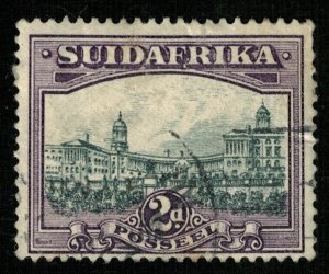 1930-1945, South Africa, Country name in English or Afrikaans, 2d (RT-216)