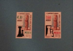 Mexico - C577-78, MNH Set. Chess Championship. SCV - $0.60