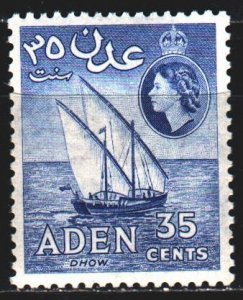 South Arabia. 1953. 53 from the series. Doe ship. MVLH.