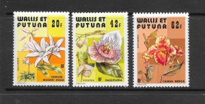 WALLIS & FUTUNA #235-7  FLOWERS    MNH