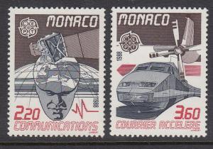 Monaco 1623-4 Europa Transportation mnh
