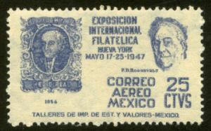 MEXICO C167, 25c Cent Int Philatelic Exhib FDR & Mexico #1 MINT, NH. VF