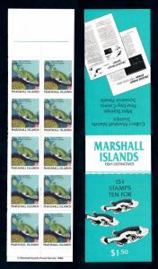 [49737] Marshall Islands 1988 Marine life Fish MNH Booklet