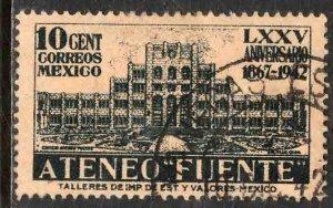 MEXICO 780, 10¢ Ateneo Fuente, 75th Anniv. Used. VF. (744)