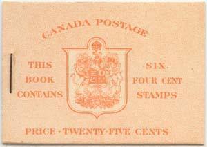 Canada - 1943 4c Carmine Comp, English Booklet #BK36F