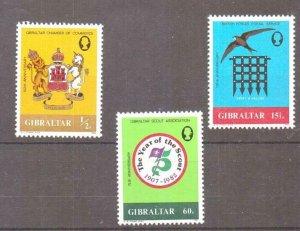 GIBRALTAR SG481/3 1983 ANNIVERSARIES MNH