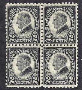 612 Mint,OG,NH... Block of 4... SCV $130.00