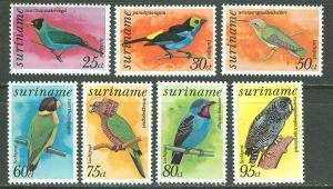 Suriname # C58//C71  Birds - initial series  (7) Mint NH