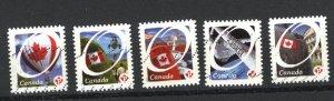 Canada #2419-23  -4  u   VF 2011 PD
