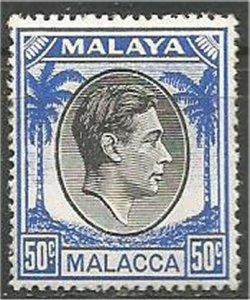 MALACCA, 1949 ,MNH 50c,George VI Scott 14