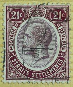Malaya 1923 Straits Settlements KGV 21c MSCA USED SG#233 M2920