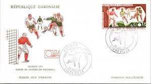 Gabon, Sports, Worldwide First Day Cover