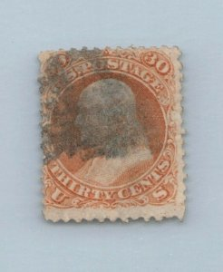 GOLDPATH US STAMP SC# 71 USED FINE, CREASE CAT $210 _SBH_01