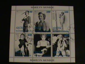 VERY RARE MARILYN MONROE BLACK AND WHITE STAMP SHEET