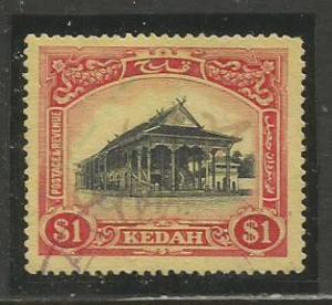 Malaya-Kedah   #17  Used  (1912)  c.v. $24.00