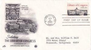 1982, Library of Congress, Art Craft/PCS, FDC (E11367)