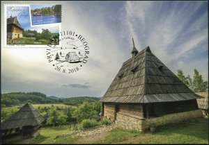 Serbia. 2018. Tourism in Serbia (Mint) Maximum Card