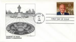 1990 Dwight Eisenhower Centenary (Scott 2513)  DeSpain #1