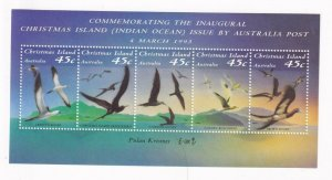 CHRISTMAS ISLAND BIRDS 1993 MNH S/SHEET PO FRESH