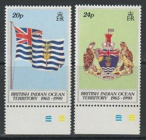 British Indian Ocean Territory, Scott 108-109, MNH