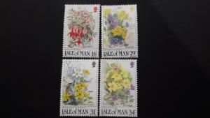Isle of Man 1987 Flowers Mint
