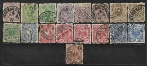 COLLECTION LOT OF 17 GERMANY STAMPS 1875+ CLEARANCE CV+$30
