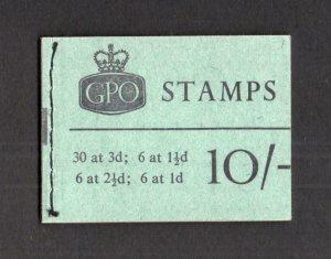 10/- BOOKLET APRIL 1962 SG X3 Cat £130