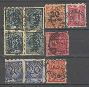 COLLECTION LOT # 4294 GERMANY OFFICIAL 4 STAMPS + 1 PAIR + 1 BLOCK  1920 CV+$21