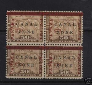 Canal Zone #20 VF/NH Block